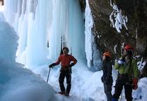 ガイドさんと行く 冬の氷瀑ツアー
