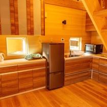 洋室ログハウス[5名様タイプ]キッチン