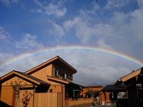 ふようの宿と虹