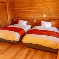 洋室ログハウス[5名様タイプ]寝室