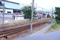 ベランダから見た線路
