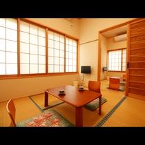 【和室】2間続きの和室はグループやファミリーに人気