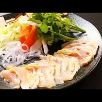 川俣シャモのしゃぶしゃぶ_要予約となりますがオプションで別注料理としてご注文いただけます。