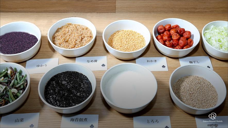 朝食(ご飯のお供のっけ丼)/朝食時間6:30~10:00(最終入店9:30)