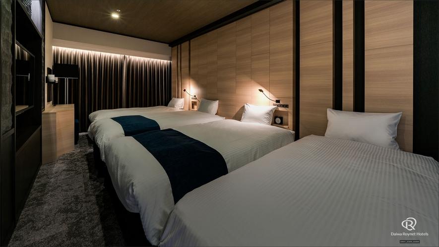 スイートルーム(寝室・4名仕様)55㎡/ベッド幅110cm