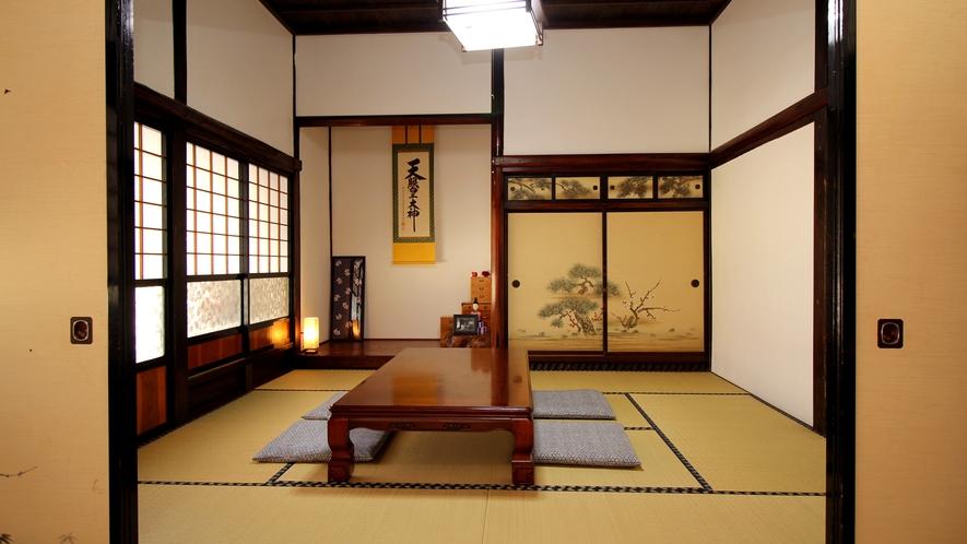 【8畳と6畳の本座敷】文化財選定のお部屋