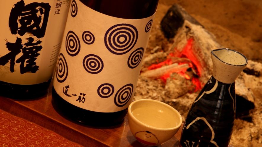 酒どころの会津の日本酒※ご注文の際は別途料金を頂戴しております