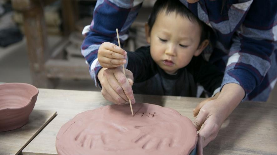 ご家族でも陶芸体験をお楽しみいただけます♪