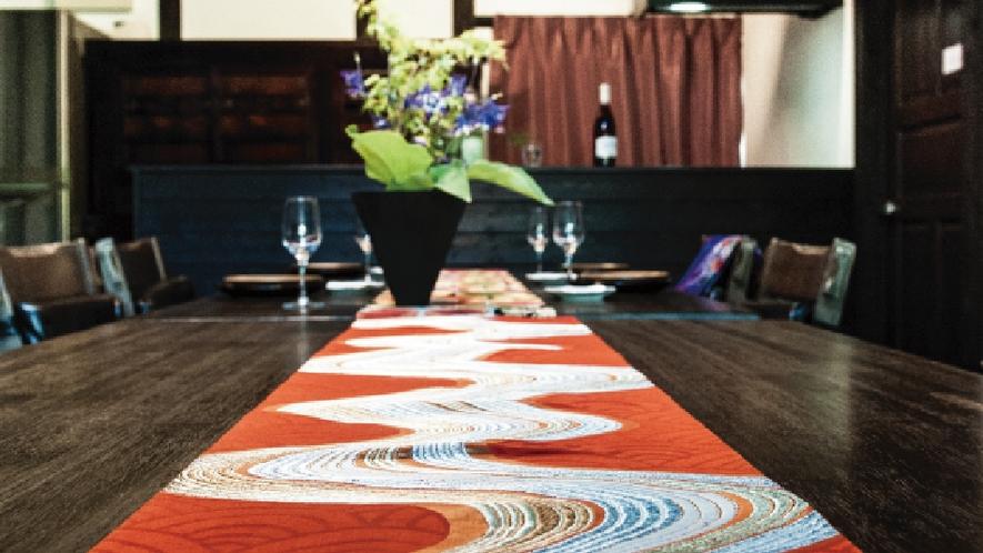 【帯クラフト体験】旅の記念にテーブルランナー作り≪素泊まり≫
