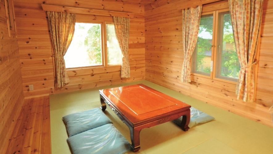 【緑ログ】たたみの部屋をご用意して、寛げるようにしました。