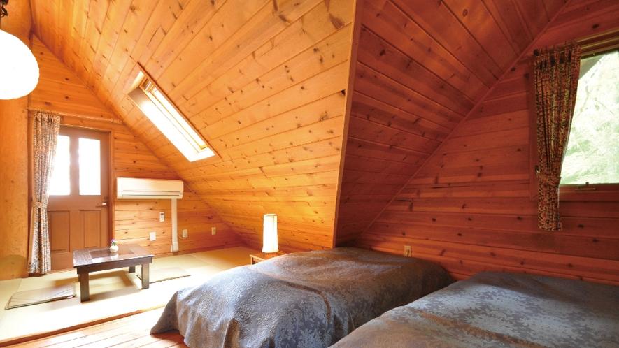 【ピーターパン】2階寝室。プライベートが確保された寝室。