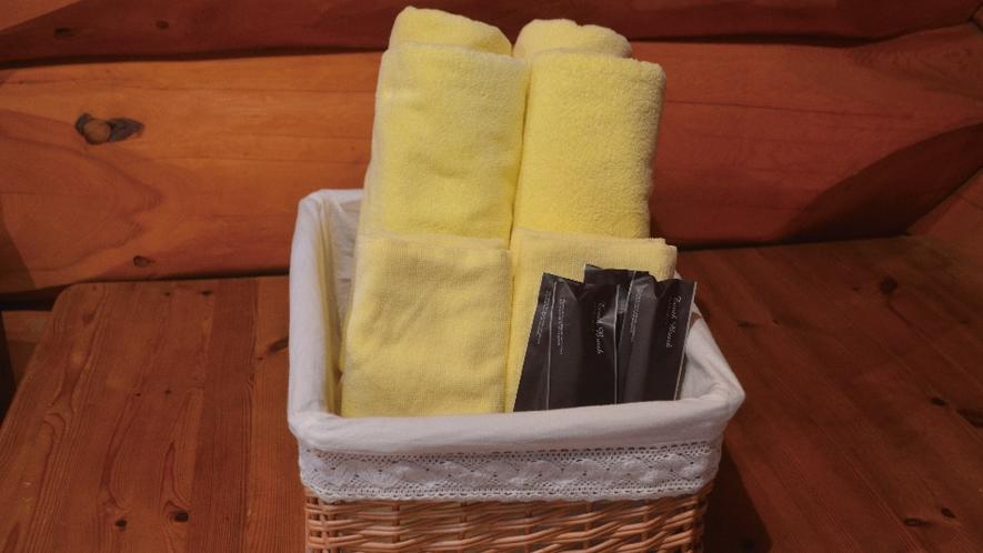 【備品】タオルや歯ブラシをご用意しております。