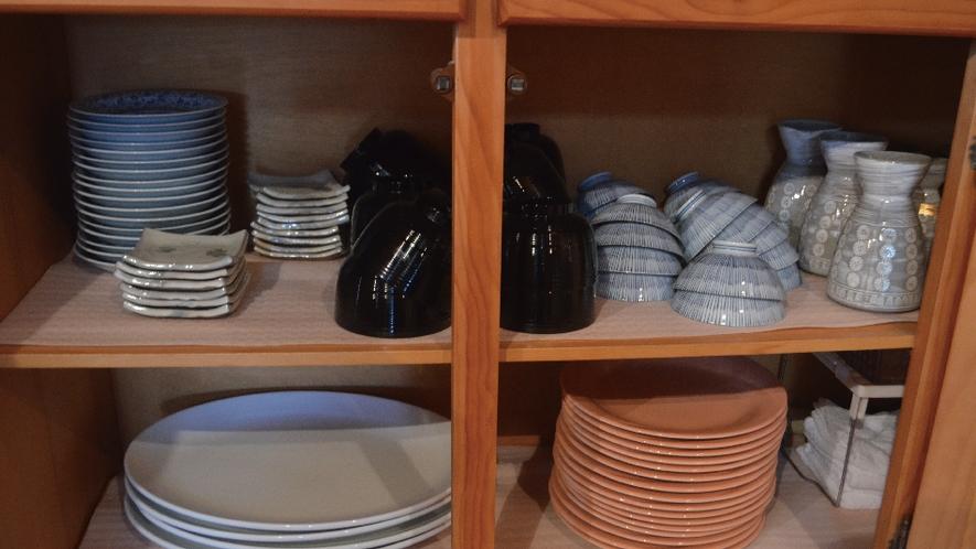 【備品】食器も十分に取り揃えています