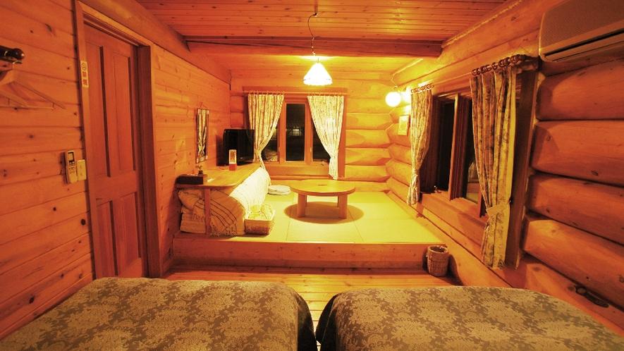 【ピーターパン】1階寝室。ベッド&布団でのんびり。