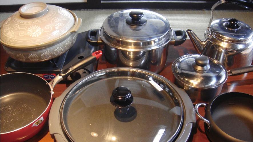 【備品】調理器具も豊富に取り揃えています。