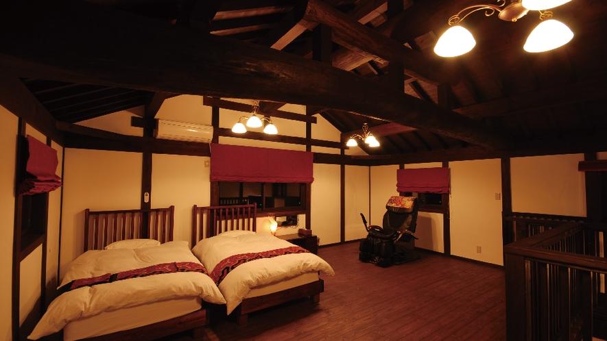 【あかね】丁寧にメイキングした寝室。ごゆっくりお休みください。