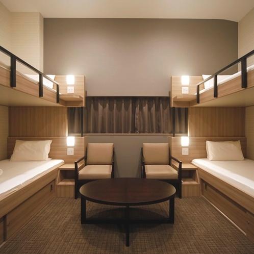 ◆2段ベッドが2台で4名様まで! 見るだけでも楽しそうなお部屋だと思いませんか??