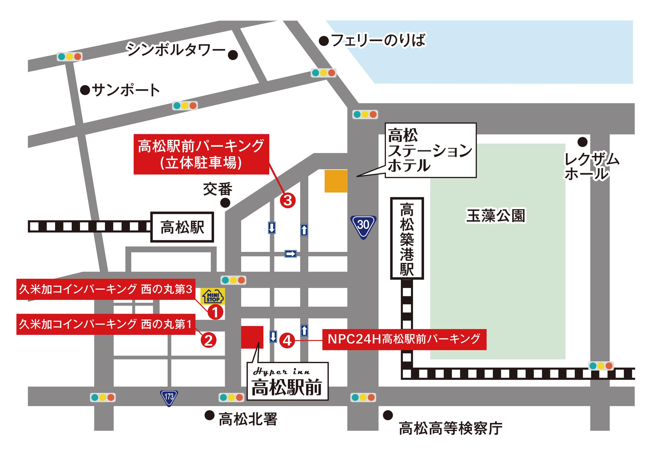 周辺駐車場マップ