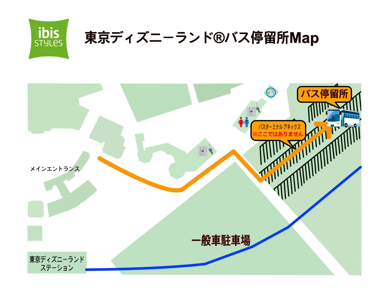 東京ディズニーランド無料送迎バス駐車場案内MAP