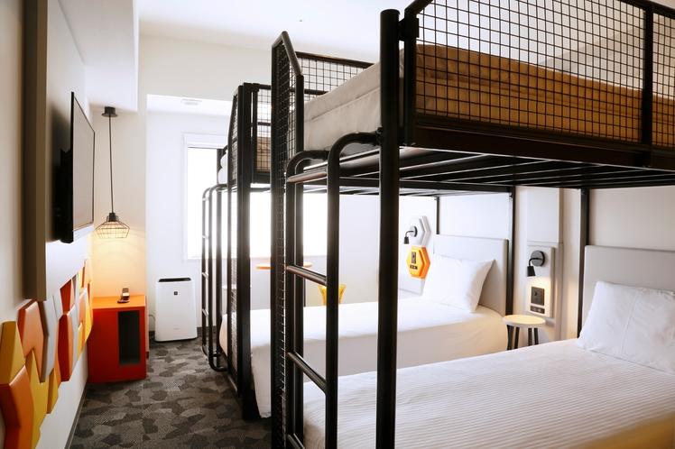 スーペリア4ベットルーム【禁煙】2段ベッド2台