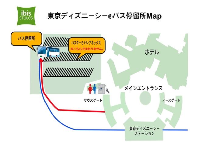 東京ディズニーシー無料送迎バス駐車場案内MAP
