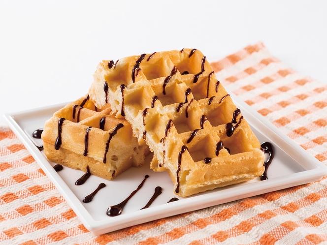 ◆レギュラーメニュー◆ワッフルはチョコソースで更においしく◆