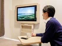 ◆自由なデスクレイアウト◆仕事の後はリビングスタイルに♪テレビを見ながらお寛ぎいただけます
