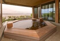 霞ケ浦を一望できる2階 天然温泉展望大浴場