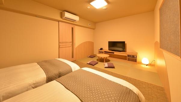 ◇禁煙◇和洋室 ベッド2台+和布団1組