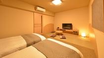 ◆禁煙◆和洋室 26平米 シモンズ社製ベッド120×195センチ+和布団1組