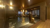 【男性】内湯:天然温泉(冷水枕あり・湯温:40~41℃)