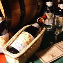 地産ワインを中心に、お料理にマリアージュしたワインを取り揃えました