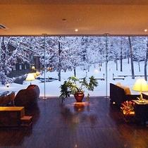 メインロビーの冬景色