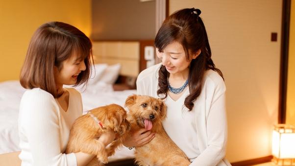【ペット同伴専用客室】<陶器風呂付き>リビング&ツインルーム