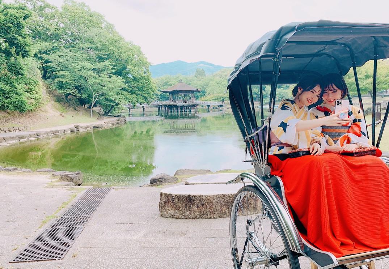 お気に入りの着物が奈良の町並みに映える