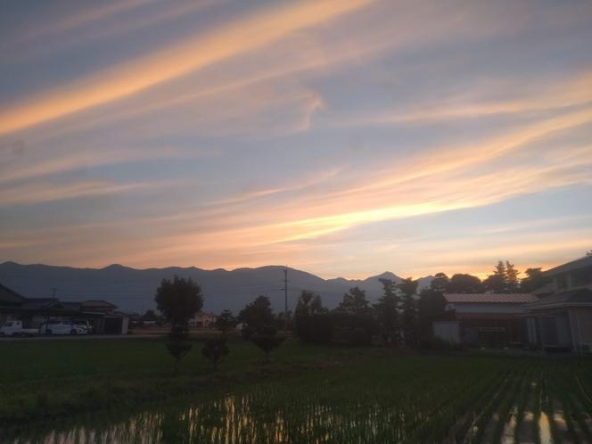宿からの夕焼け
