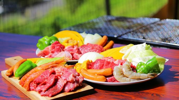 """【春〜秋:コテージBBQ】<お肉・ウインナー・お野菜etc>""""食材の準備""""不要!手ぶらで気軽に"""