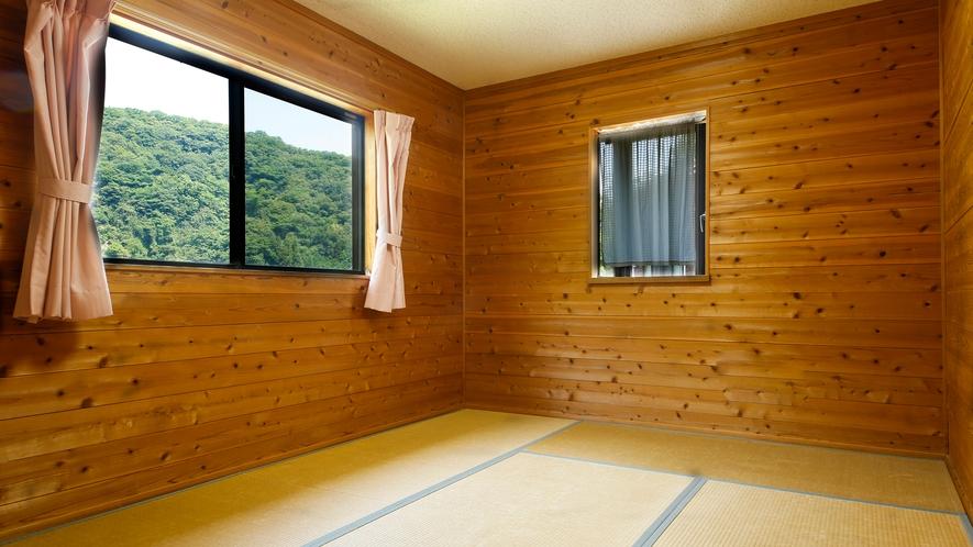 【コテージ:6名定員】寝室(和室)※お布団のご用意はセルフサービスです