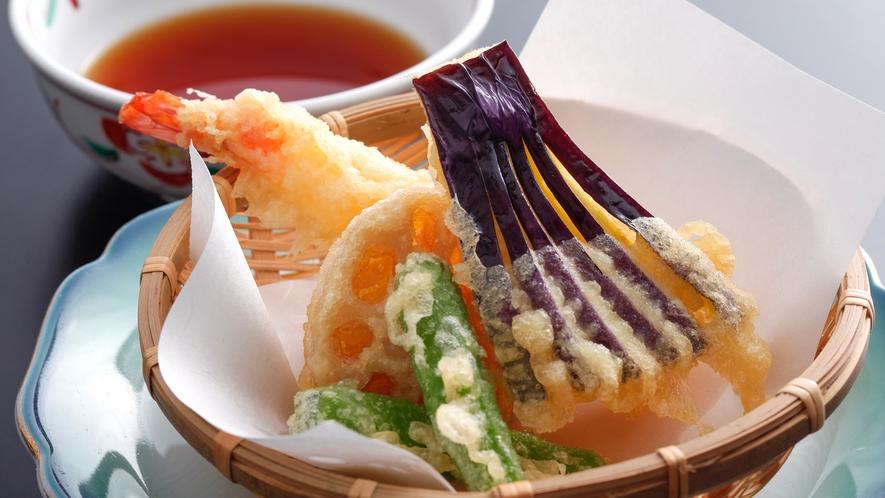 【お手軽会席】海老と旬野菜の天ぷら盛り合わせ