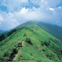 【周辺観光】剣山(標高1,955m。西日本で2番目に高い山)