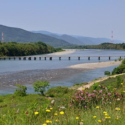 【周辺観光】吉野川の潜水橋(脇町)