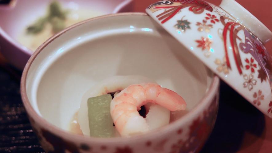 【いわや木曽路料理】蒸物一例。