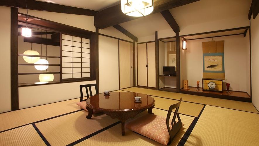 """【雅】明治時代の""""蔵""""をリニューアル、離れ風客室。2階の10畳和室。"""