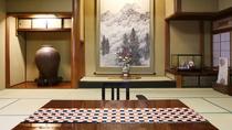 【特別室◇翠玉】和室15畳+次の間9畳+広縁。清流木曽川に面する広々和室で、ごゆっくりと。