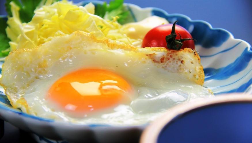 【朝食】目玉焼き
