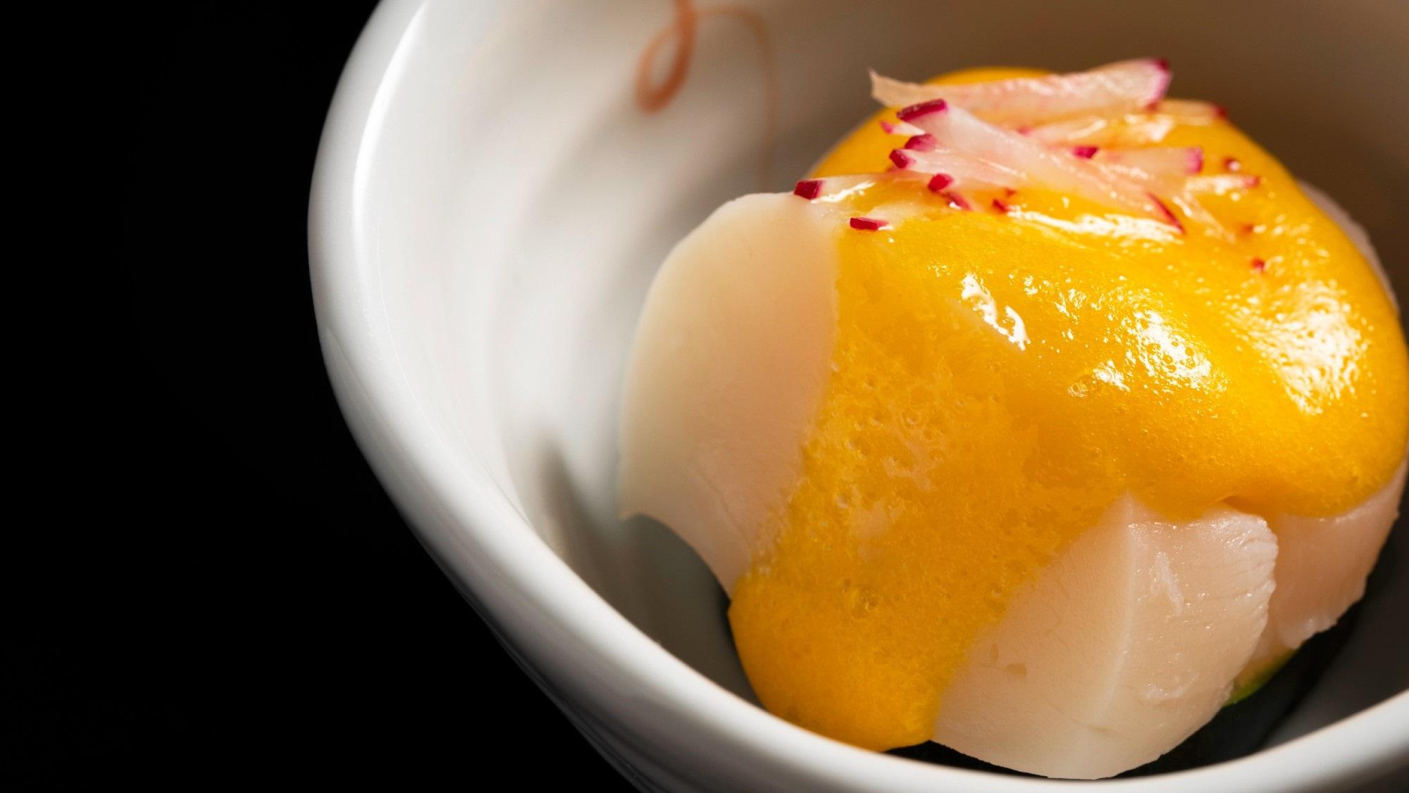 2020年9月〜:酢の物(貝の黄身酢掛け)