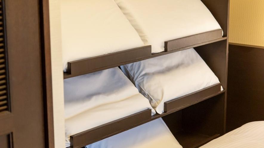 【デラックスツイン】枕棚