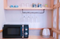 むんじゅる(スマートタイプのお部屋)冷蔵庫/電子レンジ/ケトル/掃除機などの生活必需品完備