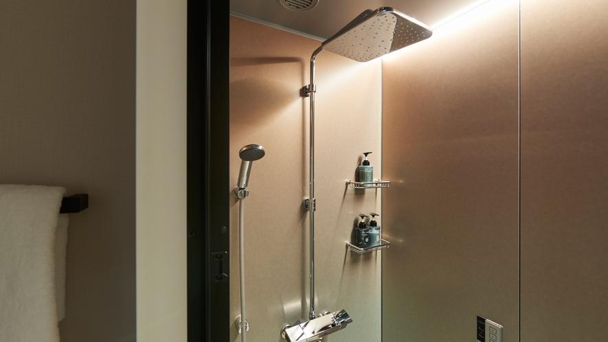 シャワーブース(各種ダブルルームはバスタブのご用意がございません)