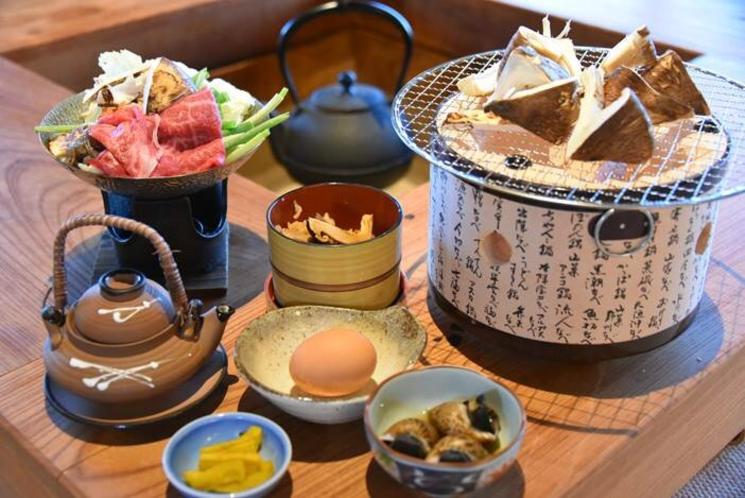 【季節限定 10/1-11/10】焼松茸と伊賀牛すき焼き御膳